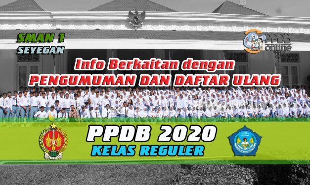 INFO SEPUTAR DAFTAR ULANG DAN PENGUMUMAN PPDB 2020